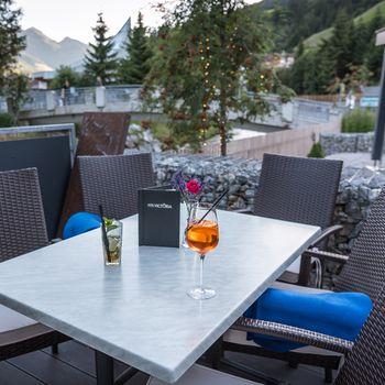 Terrasse vom Hotel Victoria