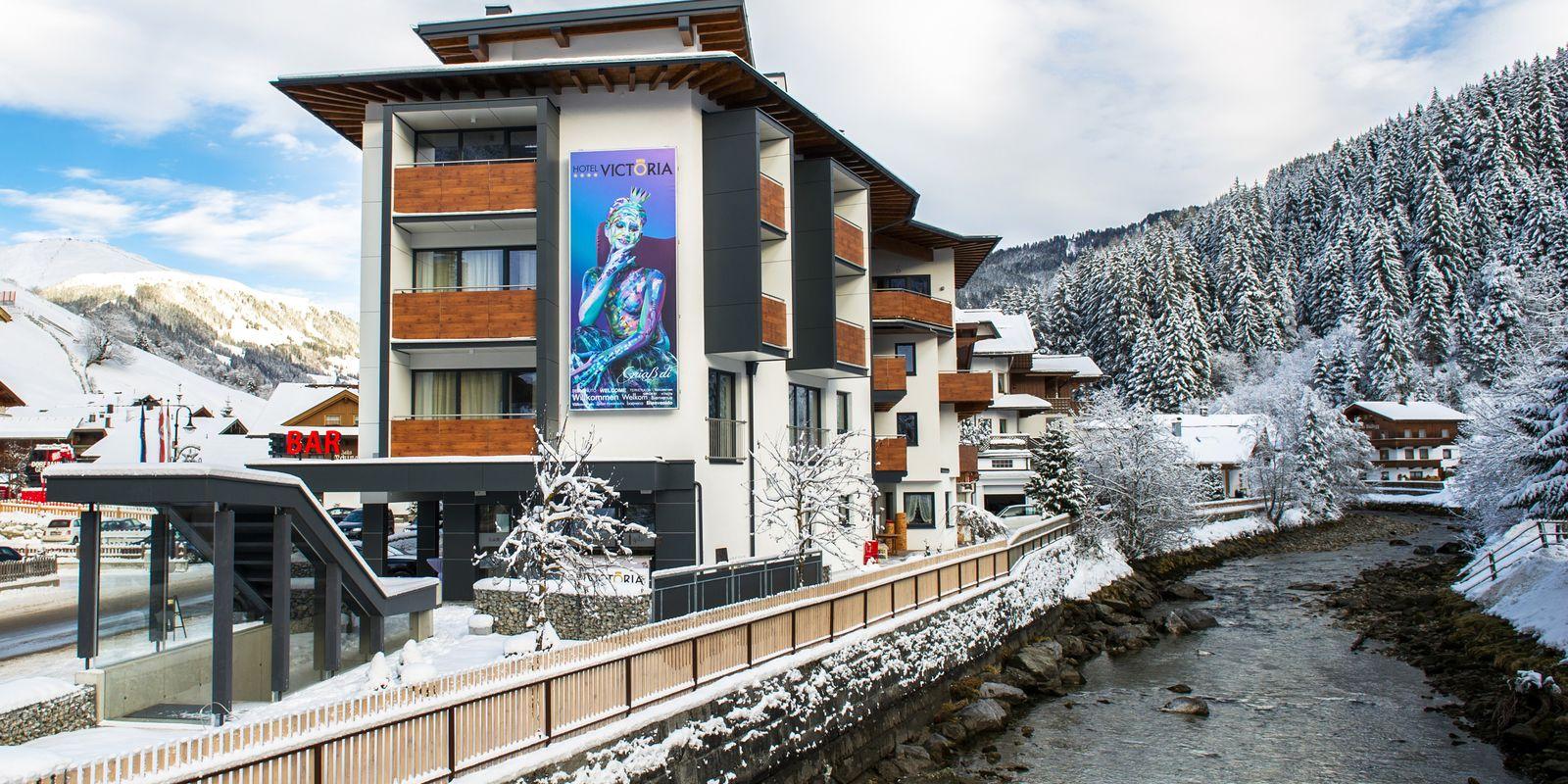 Hotel Victoria im Winter